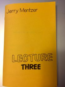 Lecture Three by Jerry Mentzer