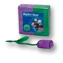 Napkin Rose Refill Pack-Purple