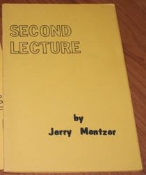 Second Lecture Notes  by Jerry Mentzer