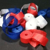 Cresey Throw Streamers-Patriotic Colors